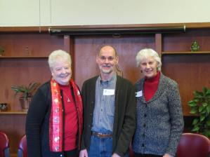 Marilyn Wilson, BVM, Bob Kutter, BVM Associate, and Suzanne Young -Facilitators for End of Year Day of Prayer