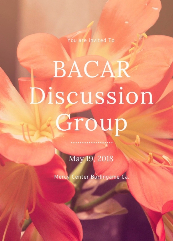 You are invited to BACAR Discussion Group